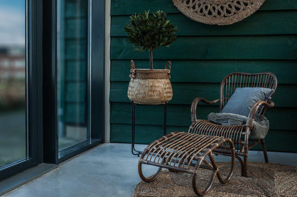 Rattan Terrassenstühlen