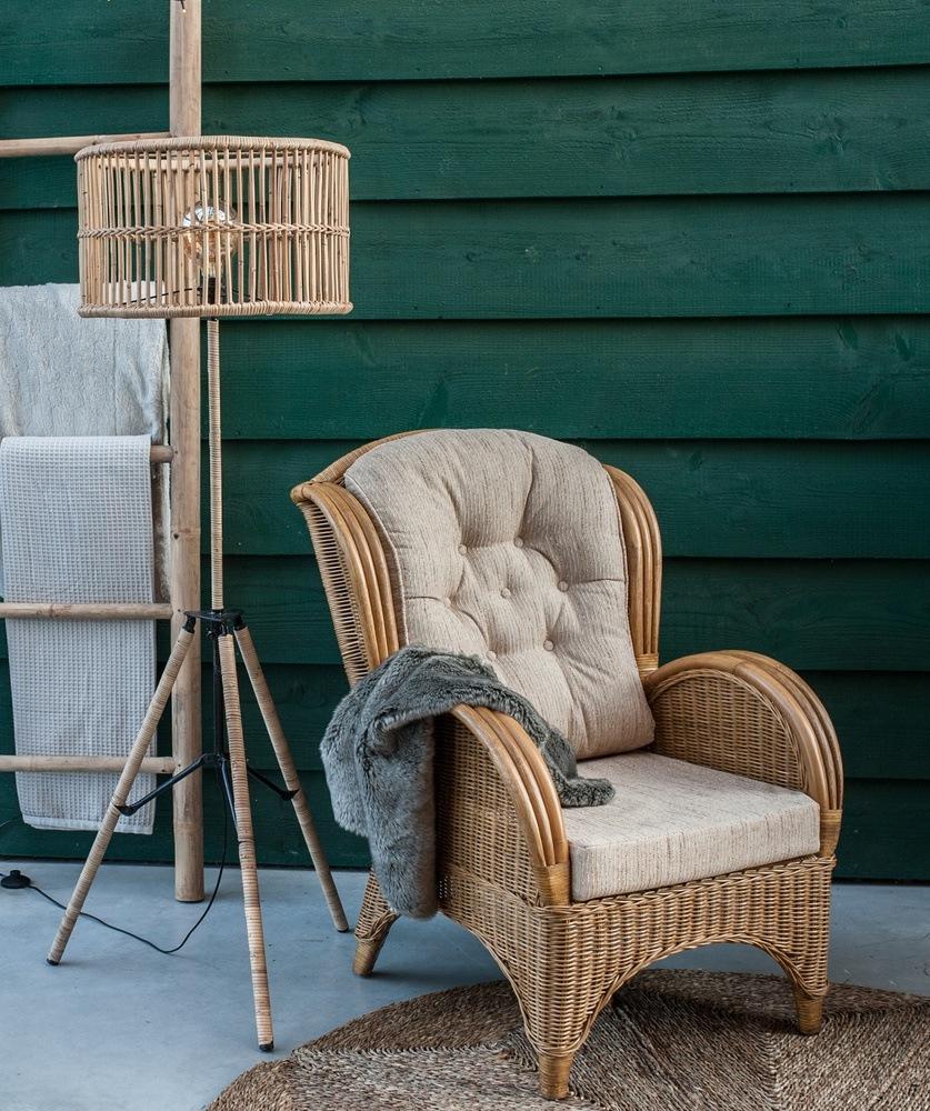 Rieten fauteuils