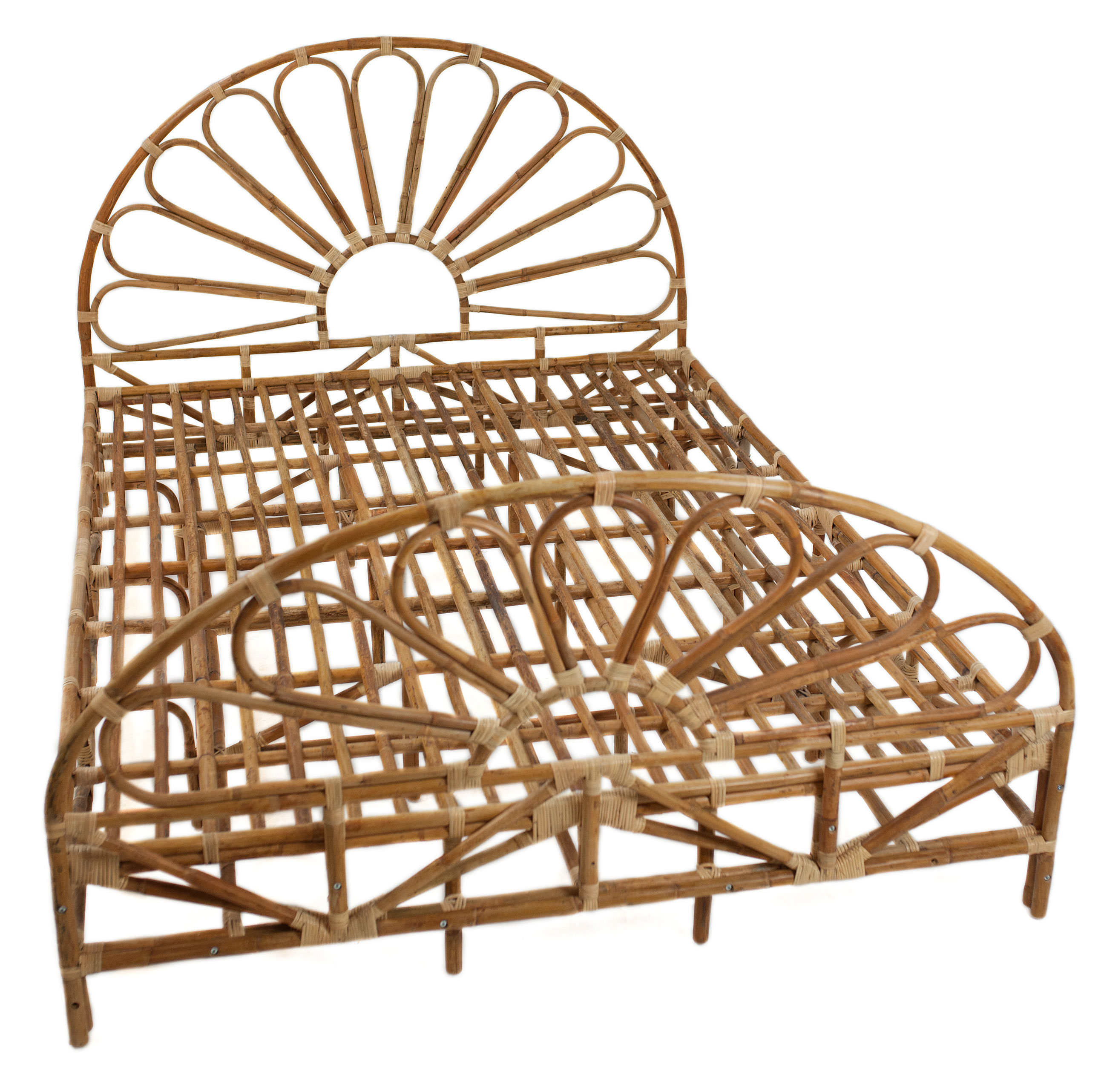 Rotan bed Rond