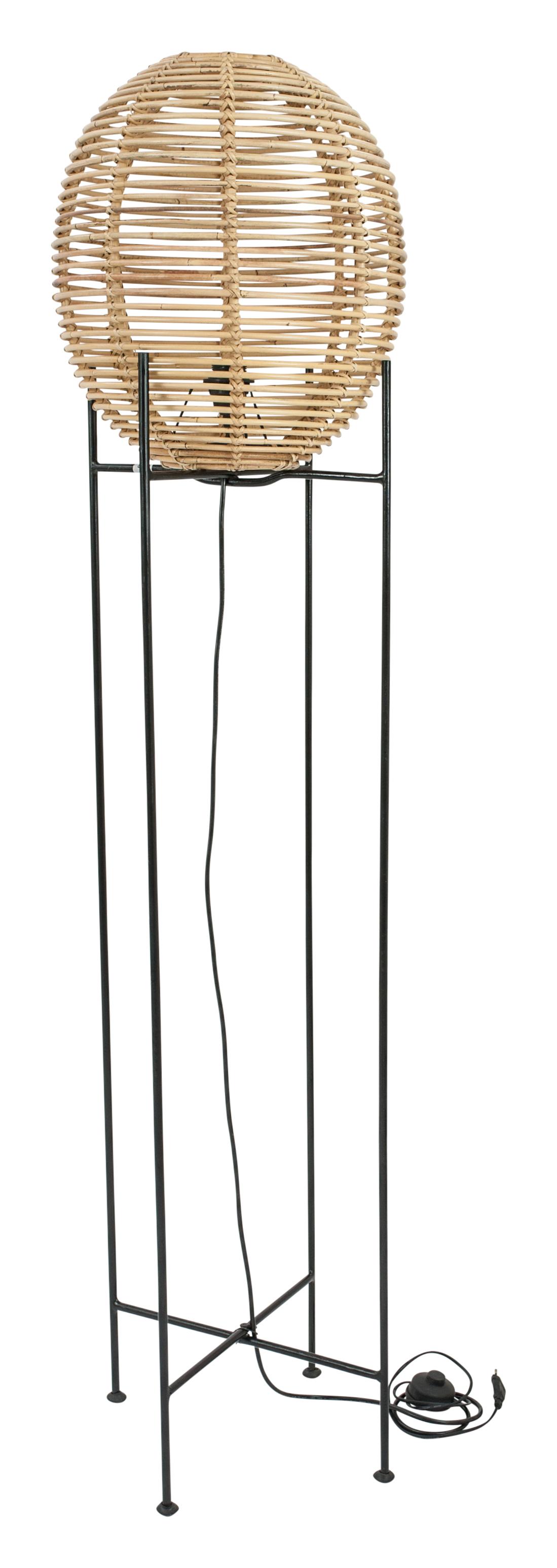 Rattan-Stehlampe Large