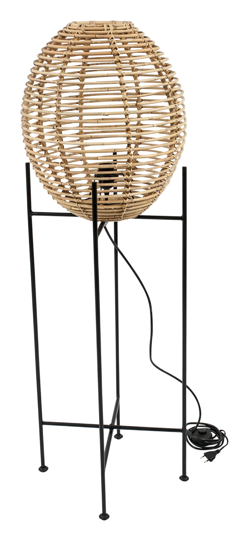 Rattan-Stehlampe