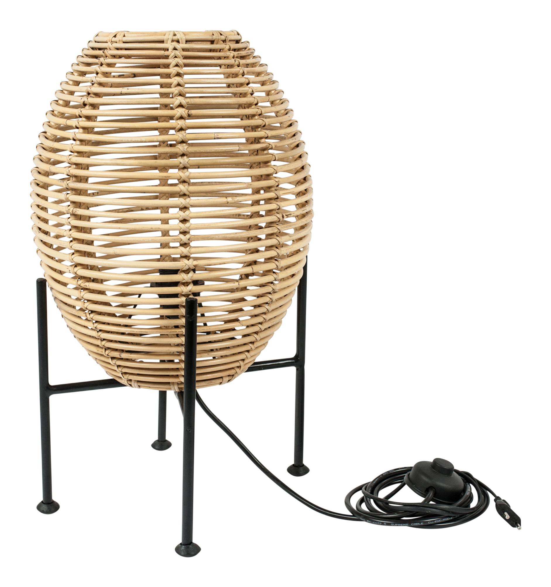 Rattan-Tischlamp Small
