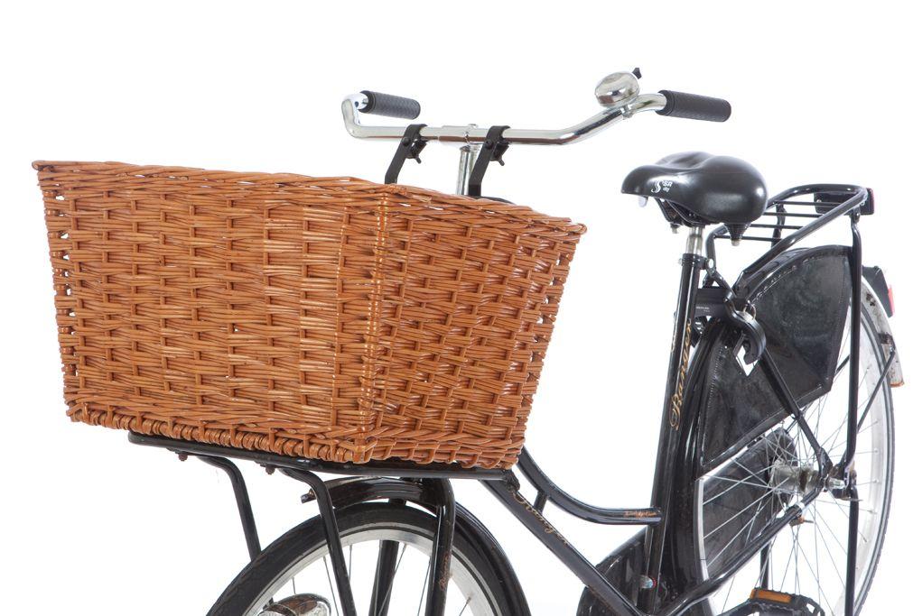 Rieten fietsmand buf