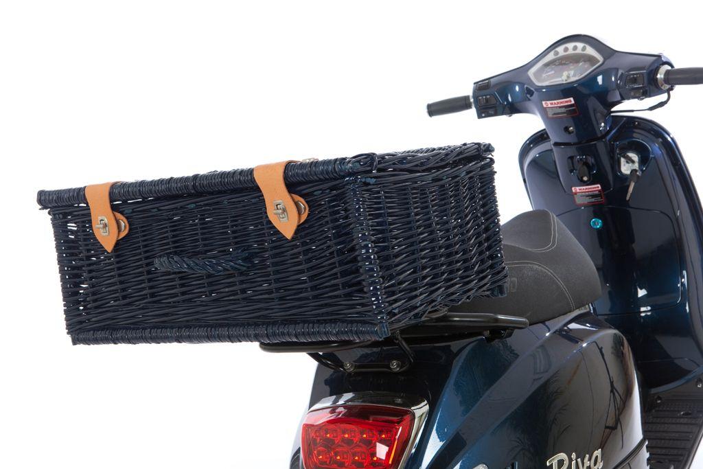 Rieten scooterkoffer 4021 zwart
