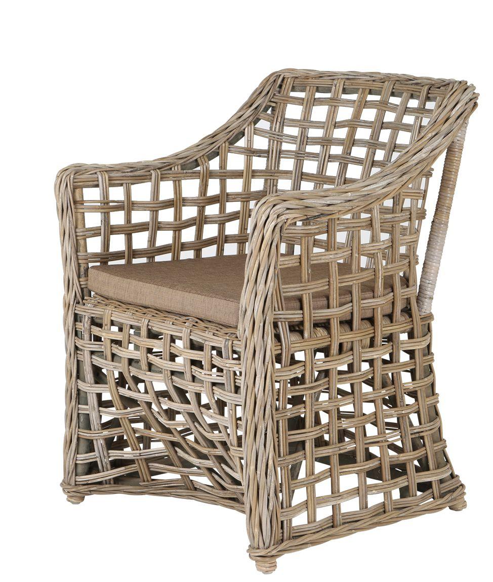 Rotan stoel veranda