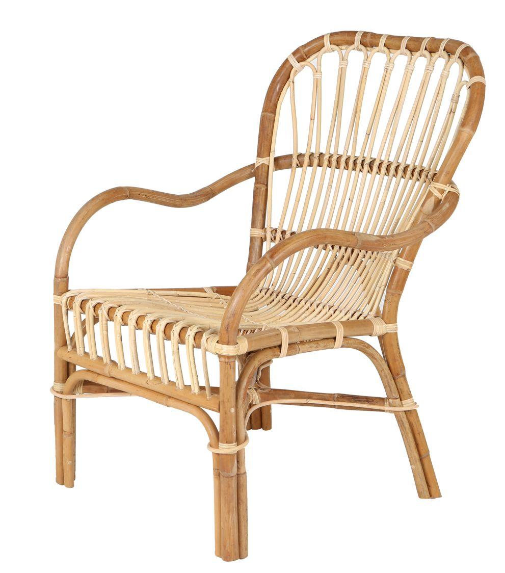 Rotan stoel retro