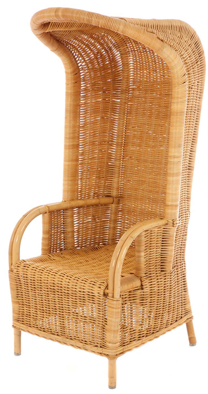 Strandstoel met luifel rotan