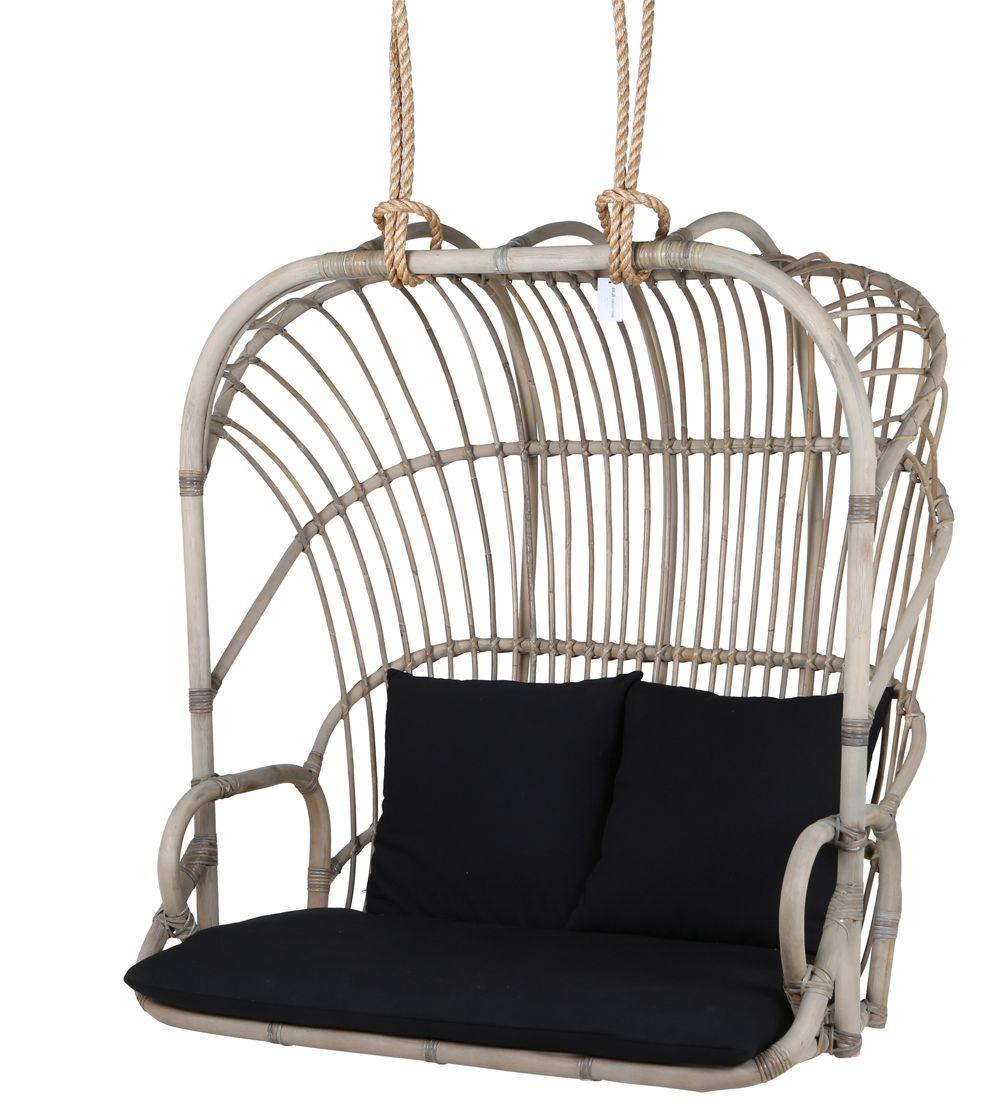 Rotan hangstoel