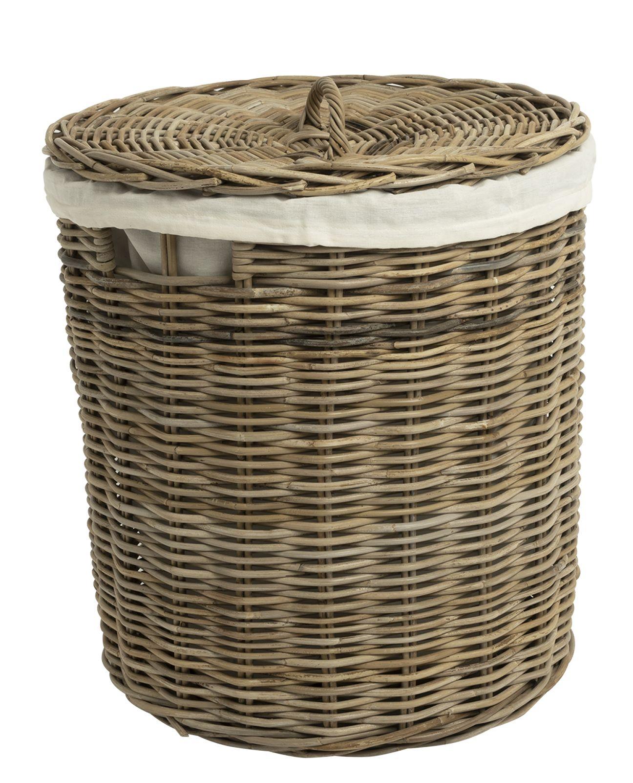 Wäschekorb Rattan Runde
