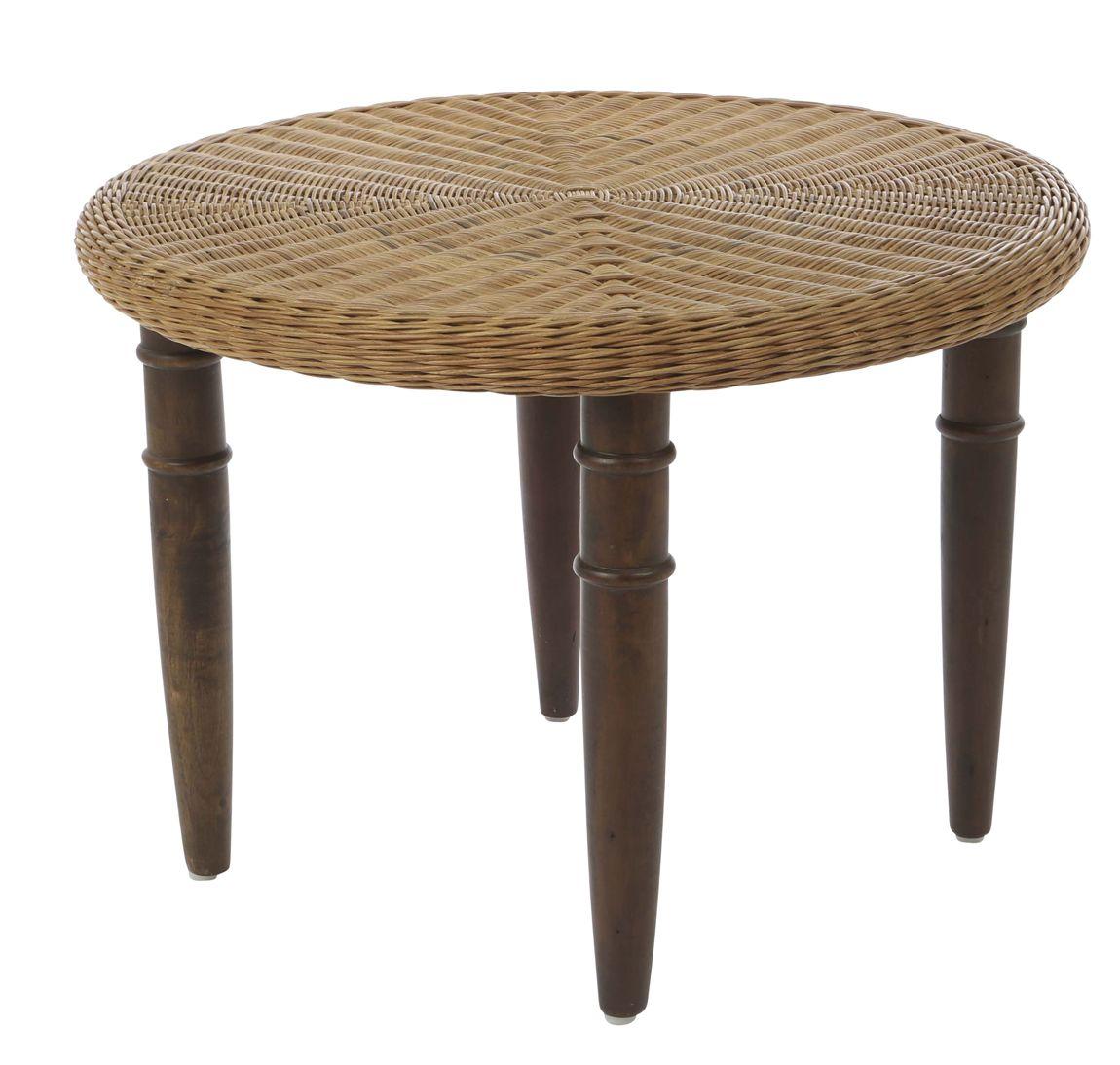 Tisch Peddigrohr Rund