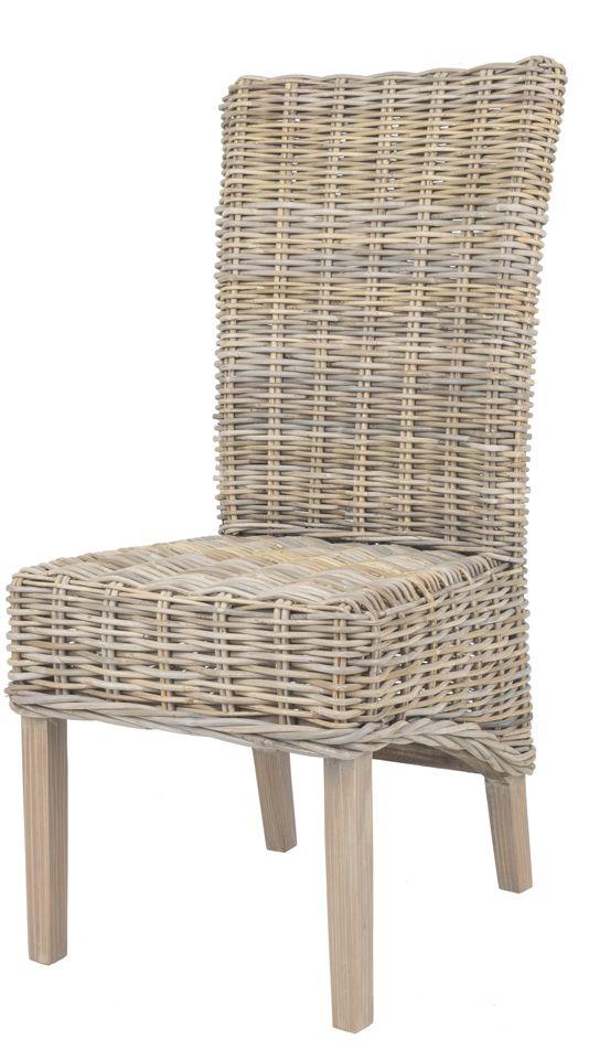 Rieten eetkamer stoel