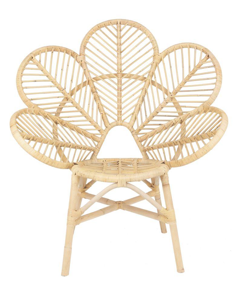 Rotan stoel Flower