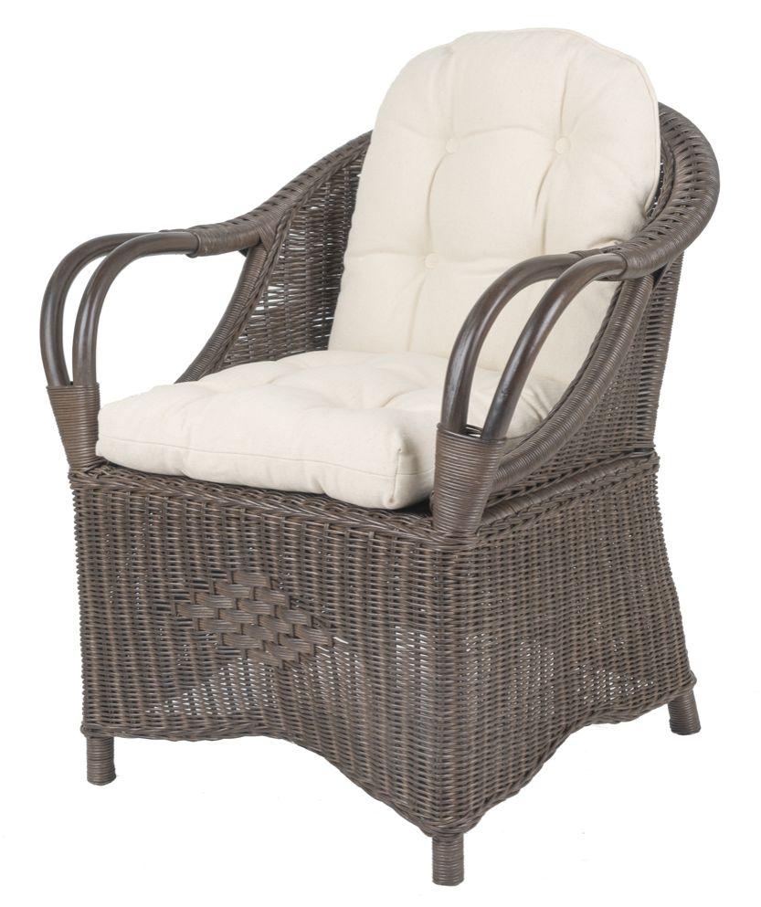 Rieten fauteuil Riva Donker bruin
