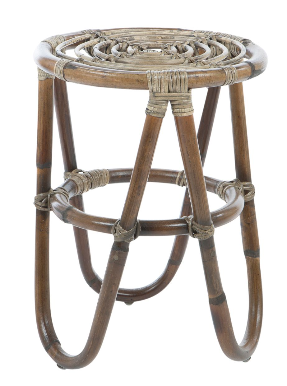 Hocker Rattan Antik