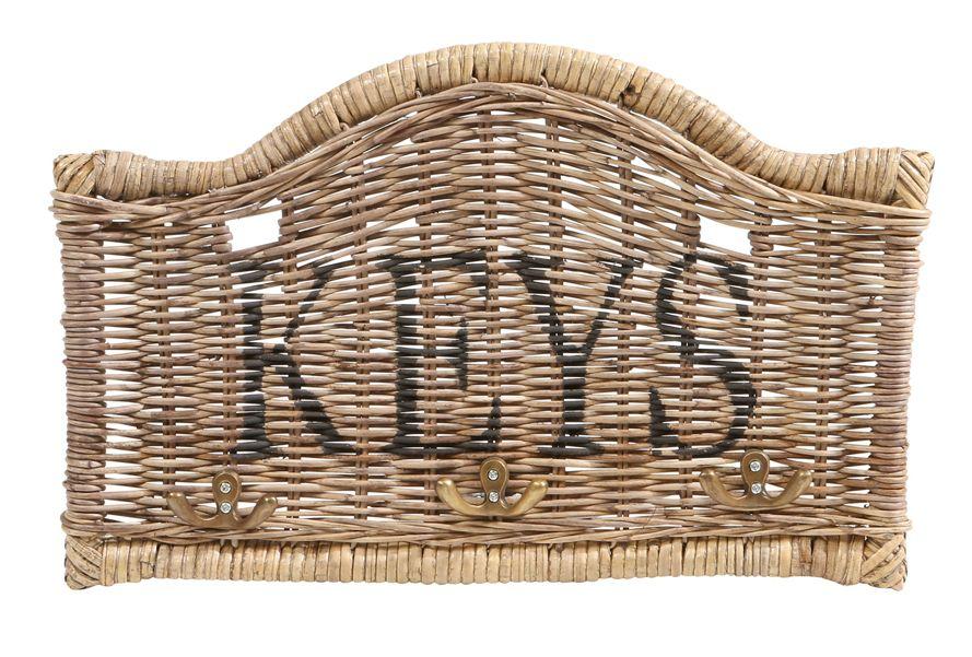 Rattan Schlüssel Wand