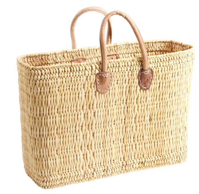 Rieten Boodschappentas : Rieten tas tassen