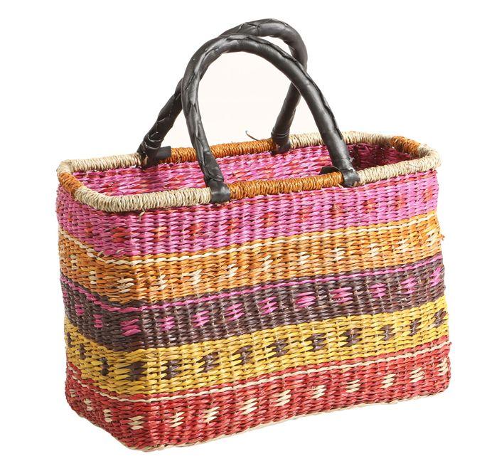 Rieten Tas Inkoop : Rieten tas kleur roze