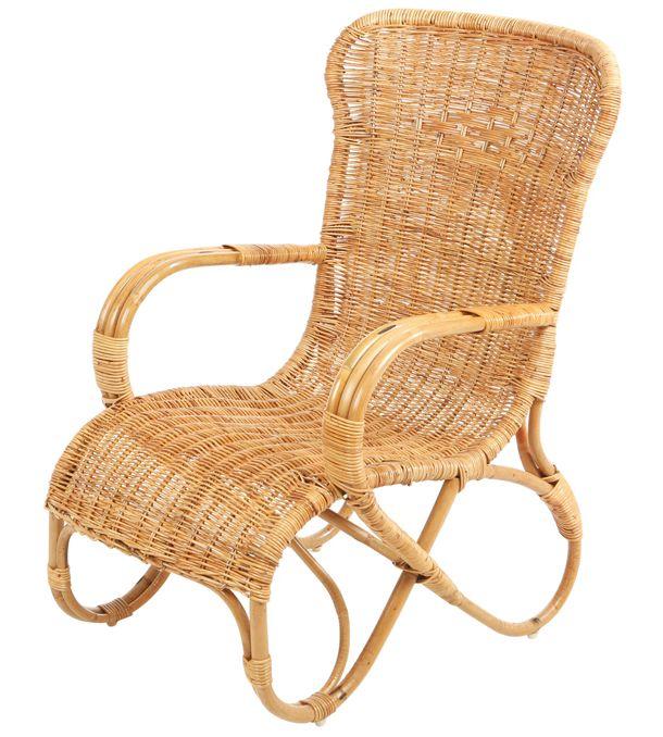 Rotan stoel belse hoog ingevlochten