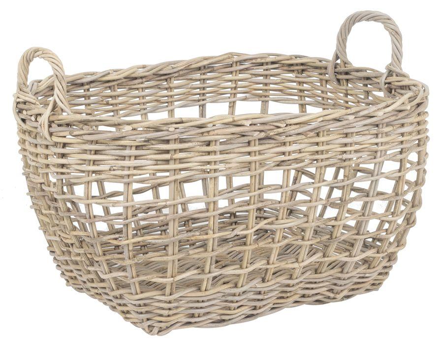 Wäschekorb aus Rattan