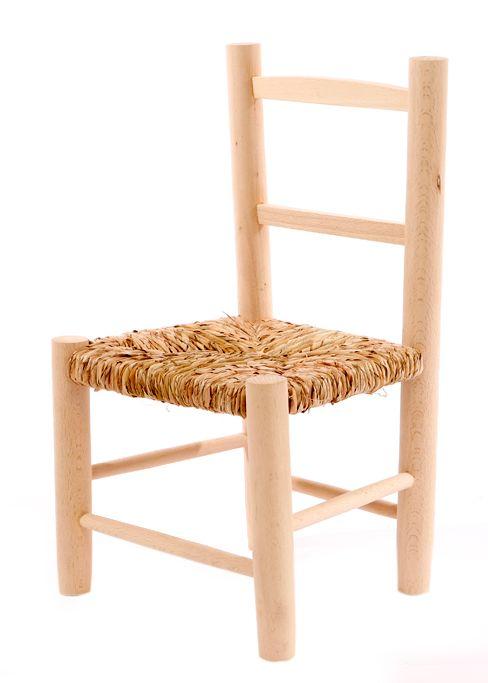 Kinderstoel biezen mat gelakt