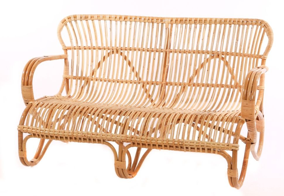 Vintage Rattan Sofa Belse