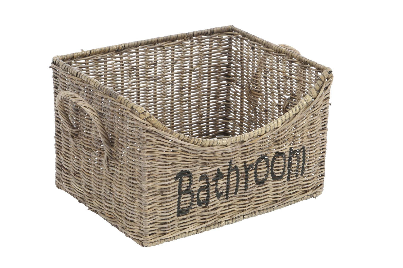 Rieten badkamer mand