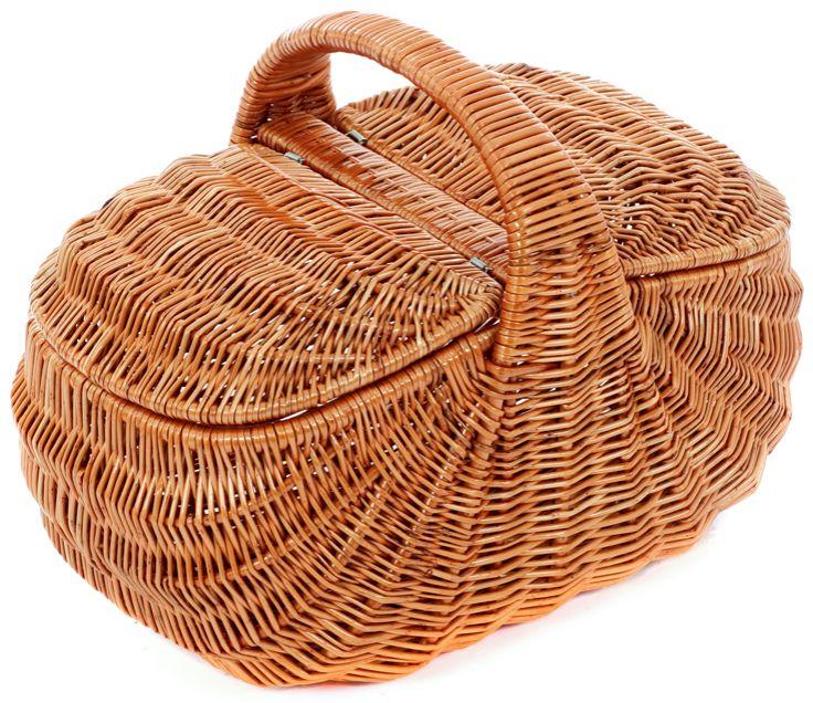 Rieten picknickmand