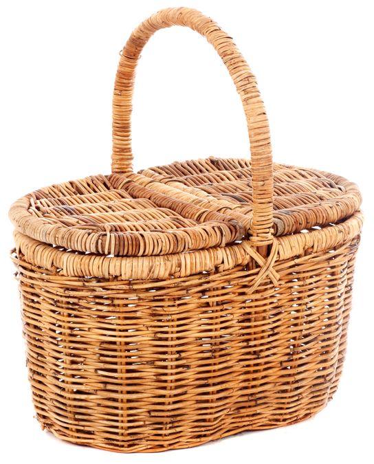 Rieten picknickmand R8679