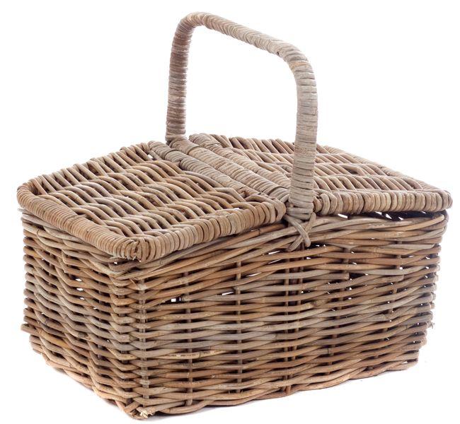 Rieten picknickmand 9170GR