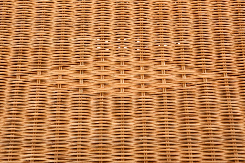 Rieten speelgoedkoffer pitriet honing 5004