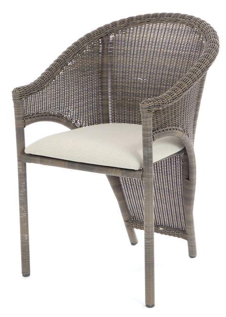 SALE - Rieten eetkamer stoel Iron lady