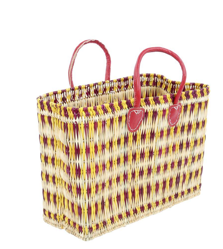 Rieten tas kleur