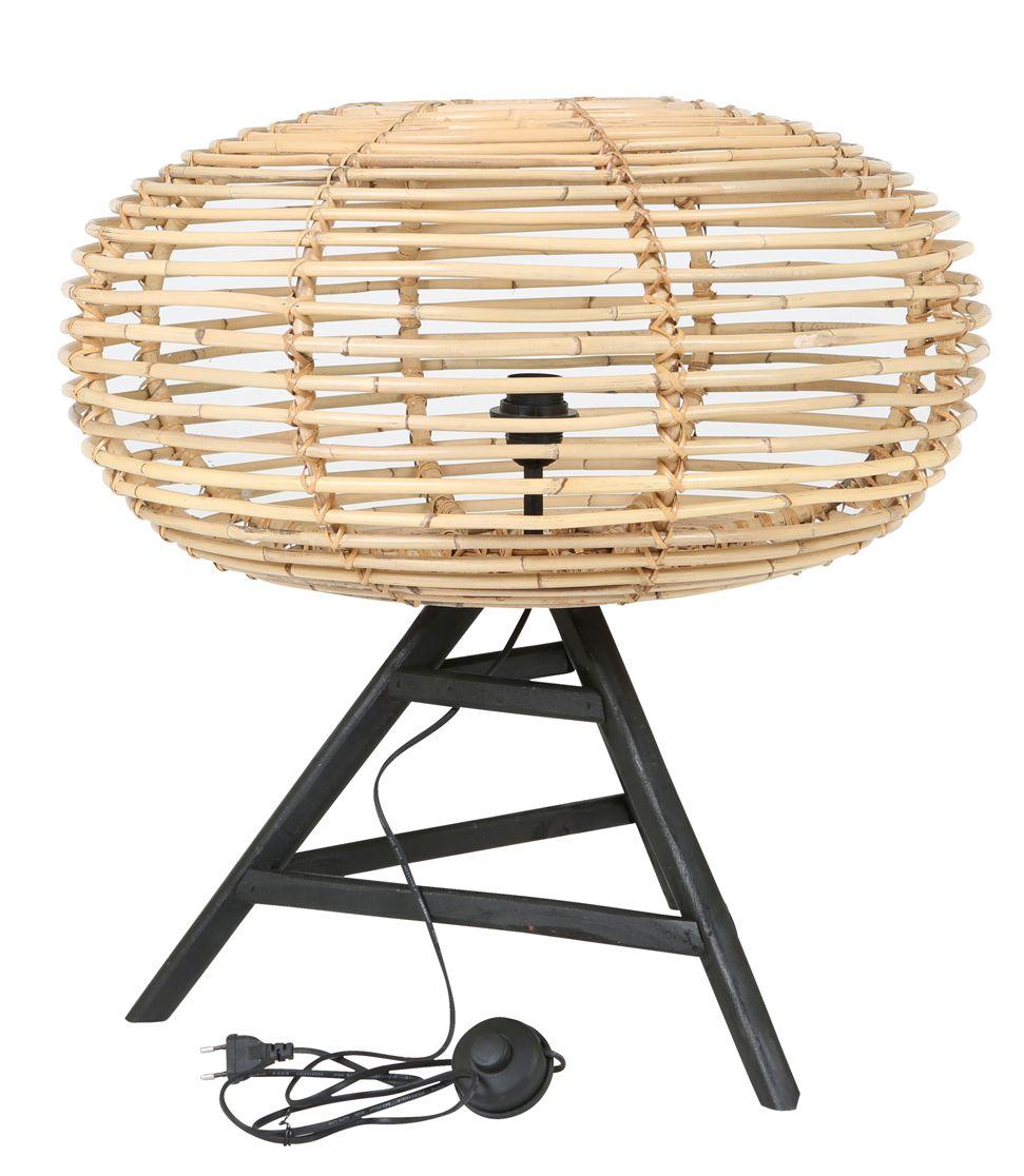 Rotan tafel lamp