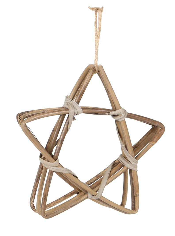 Rotan kerstboom hanger ster