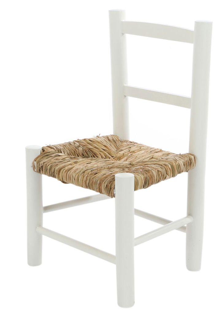 Kinderstoel biezen mat wit