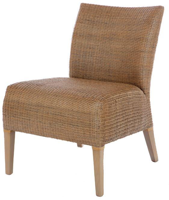 Rieten fauteuil Venice grijs
