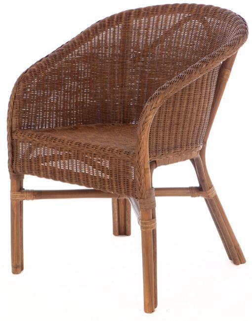 Rieten fauteuil Fabion pitriet donkerbuin