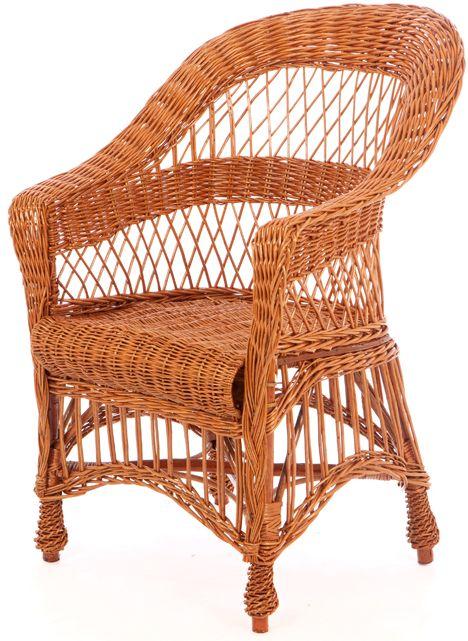 Rieten fauteuil terrassierpoot