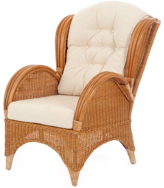 Rieten fauteuil Florida honing kleur