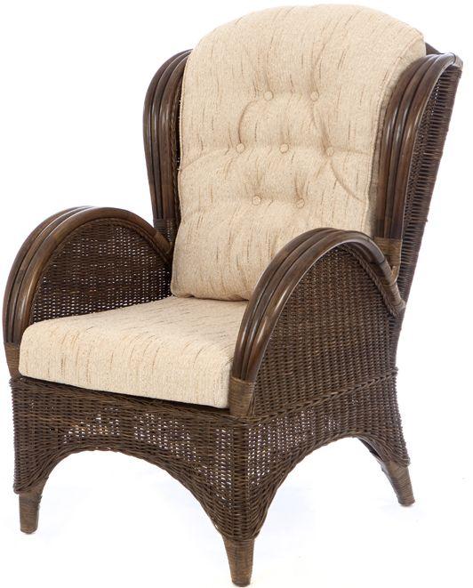 Rieten fauteuil Florida donker