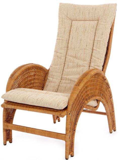 Rieten fauteuil Iron Lady honing kleur