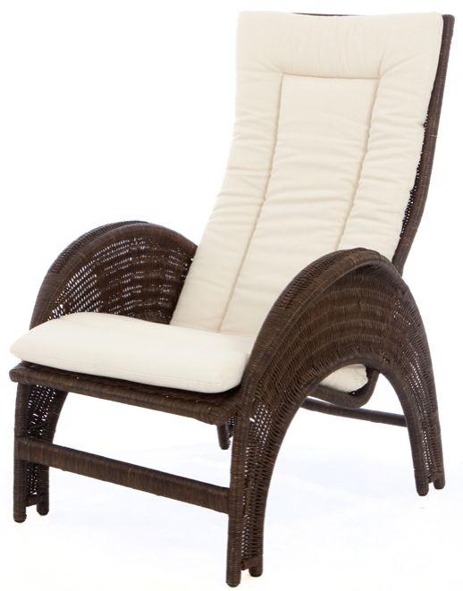 Rieten fauteuil Iron Lady donker