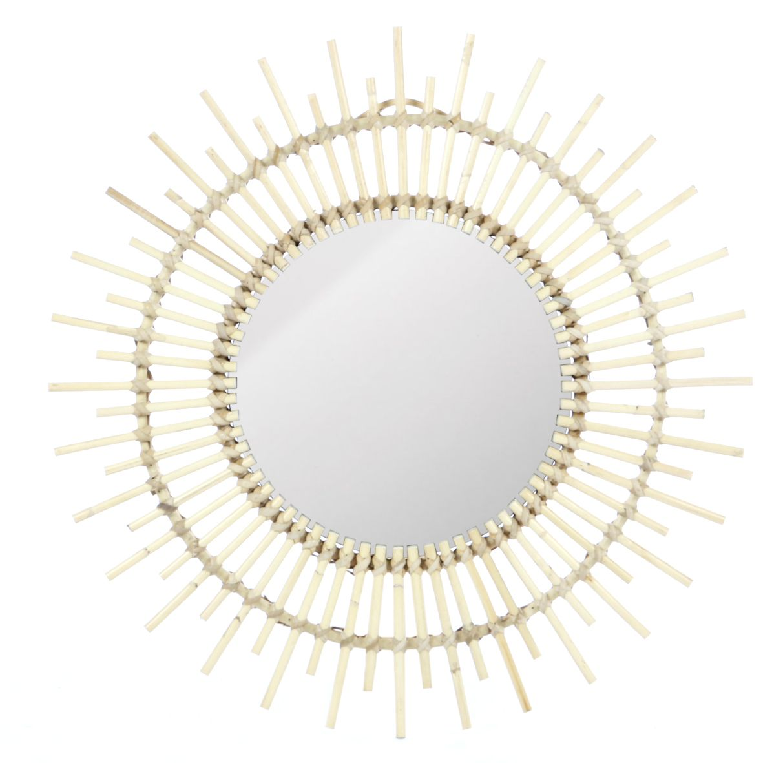 Retro rotan spiegel