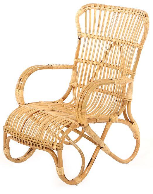 Vintage rattan sessel belse hoch rattan terrassenst hlen for Sessel schmal hoch